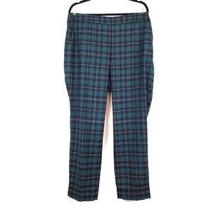 Talbots | Green Blue Plaid Heritage Pants 16